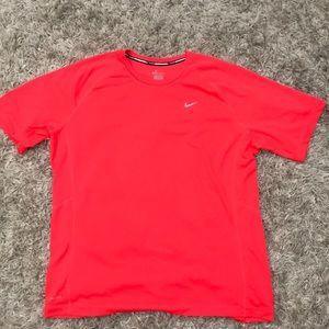 NEON ORANGE Nike Running DRI-Fit XL shirt.